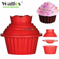 Walfos High Quality Silicone Giant Cupcake Mold3 Pcs Big Top