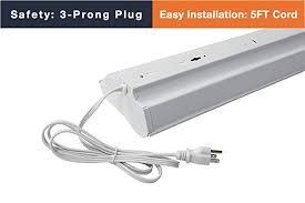 easy eye basement lighting. Archipelago Utility LED Shop Light, 4FT Integrated Light Fixture With 5FT Cord, Easy Eye Basement Lighting R