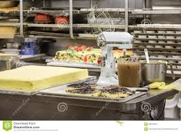 cake production in commercial kitchen stock photo image  cake production in commercial kitchen