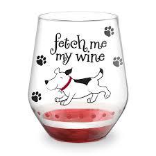 fetch me my wine hand decorated stemless wine glass everythingbutwine com