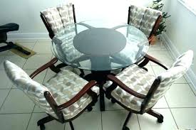 caster dining chairs 5 piece caster dining set walnut rolling caster dining chairs dining room