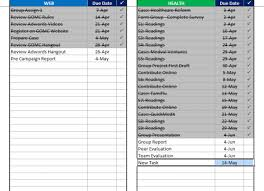 Excel Assignments Excel Template Mba Excel Homework Tracker