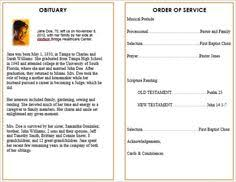 How To Make A Funeral Program 75 Best Printable Funeral Program Templates Images In 2019