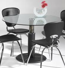 Glass Kitchen Tables Round Round Glass Kitchen Table Extending Round Glass Dining Table