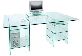 captivating glass computer desk glass computer desk featured with some drawers galilaeum home