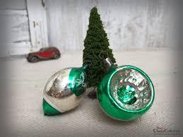 Christbaumschmuck Antik Baumschmuck Aus Glas Olive Reflexkugel Weihnachtsschmuck Vintage Weihnacht Weihnachtsbaum Hx4741