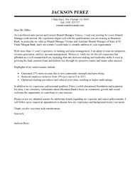 Trainee Cover Letters Best Branch Manager Trainee Cover Letter Examples