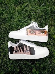 Naruto Sasuke Custom Nike Air Force one,custom sneakers , custom shoes ,  custom nike ,custom kicks ,hand painte… | Naruto shoes, Custom shoes diy,  Custom nike shoes