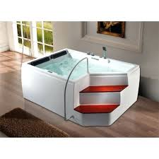 bathtub with steps surf hydro massage bathtub with two steps bathtub steps with handrail