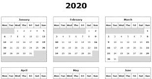 Download 2020 Yearly Calendar Mon Start Excel Template
