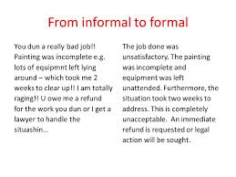 Formal And Informal Register Informal To Formal Informal To Formal