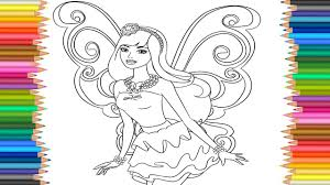 Barbie Fairy Princess Coloring Pages L Markers Videos On Barbie