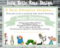Baby Shower Book Theme Ideas For Smart Education  Horsh BeirutLibrary Themed Baby Shower Invitations