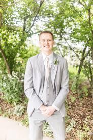 Groom Light Grey Suit Wedding Photography Groom Light Grey Suit Manhattan Ks K