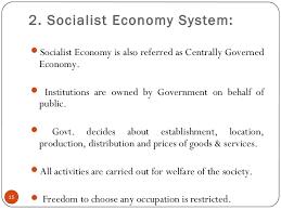 socialist economy indian economy system