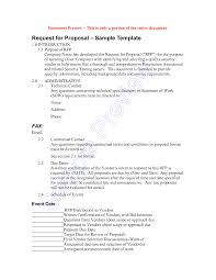 Request For Proposalument Example Template Property Management