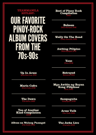 Cd Song List Teammanila Hit List Our Favorite Pinoy Rock Album Covers From The