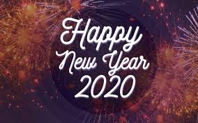 Wallpaper Happy New Year 2020 Fireworks Background