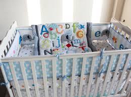 alphabet crib sheet abc characters newborn baby boy crib bedding set 4pc cot set