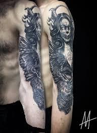 рукав демон тату на руке у парня добавлено алёна миронова