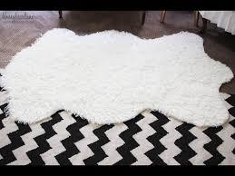 faux fur rug large faux sheepskin rug ikea