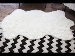 faux fur rug large faux sheepskin rug ikea