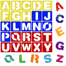 Templates Alphabet Letters Karty Alphabet Letter Stencil Set For Kids And Adults Painting Lettering And Drawing Templates Large Plastic Abc Stencils For Protest Posters
