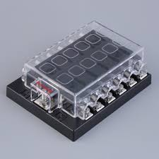 online get cheap fuse block terminals aliexpress com alibaba group 12 way circuit car atc ato blade fuse box block holder 32v terminals