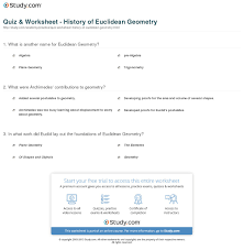 quiz worksheet history of euclidean geometry com what were archimedes contributions to geometry