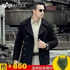 united states alpha alpha peacoat woolen coat warm cotton leisure suit men s windbreaker woolen coat