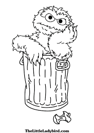 Sesame Street Coloring Pages Monster To Print Cookie Free Printable