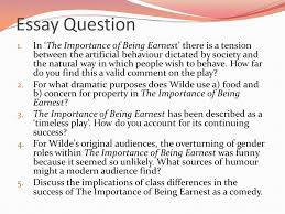 the importance of being earnest ppt   the importance of being earnest as a comedy essay question