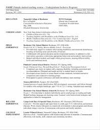 Resume For Undergraduate College Student Sample Bongdaao Com