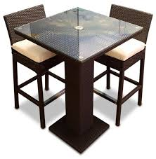 3Piece Outdoor Bar Table Set  Contemporary  Outdoor Pub And Three Piece Outdoor Furniture
