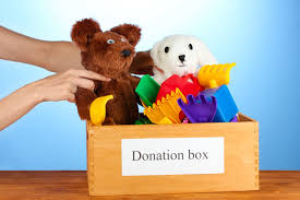 consider donating used toys