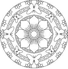 Small Picture Simple Mandalas Coloring Pages Free Coloring Pages Coloring