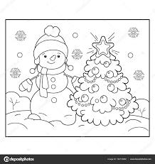 Leuk Voor Kids Kleurplaat Sneeuwpop Met Een Sjaal Bullet Journal
