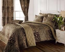 full bed set matching curtains 8 piece animal print design super king co uk kitchen home