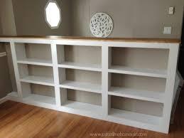 paintedwm beautiful half wall bookshelf