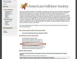 searching in iuscholarworks repository for afs gray literature  searching in iuscholarworks repository for afs gray literature american folklore society