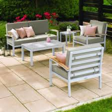 China Outdoor Furniture PowderCoated Aluminum Garden Textilene Powder Coated Outdoor Furniture