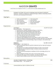 Creative Medical Esthetician Resume Sample With Additional Sample