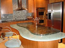 Soft Flooring For Kitchen Soft Orange Wood Kitchen Island Designs Feat Granite Countertop