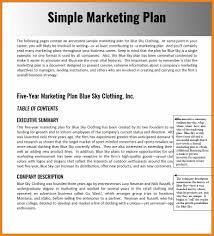 Simple Marketing Planxample Apa Format Template Wordxamplesxcel