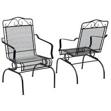 metal outdoor chairs with cushions cast iron garden furniture porch lawn folding bl and tables home