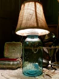 comely home lighting decoration using canning jar lamps breathtaking image of light blue glass canning