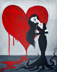beginners learn to paint full acrylic art lesson of morticia addams inspiration of acrylic painting ideas