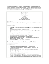 Gym Manager Resume Sample