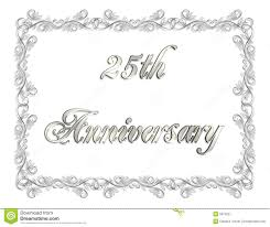 25th wedding anniversary invitation cards free 25th anniversary invitation 3d ilration stock