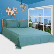 details about duvet cover collection 100 egyptian cotton 1000 thread count turquoise blusolid